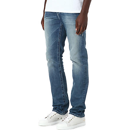TRUE RELIGION Geno regular-fit straight jeans (Blue