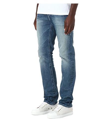 TRUE RELIGION Geno regular-fit straight jeans (Blue