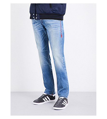 TRUE RELIGION Ricky regular-fit straight jeans (Pale+horizon