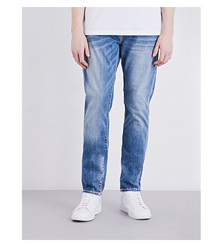 TRUE RELIGION Rocco relaxed-fit skinny jeans (Denim+lapis