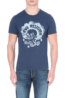 TRUE RELIGION Printed cotton t-shirt