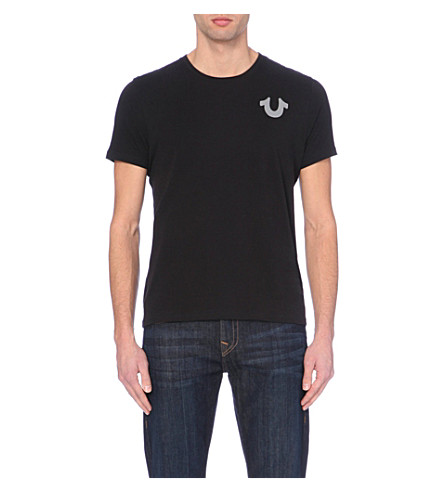 TRUE RELIGION Crafted with pride logo t-shirt (Black