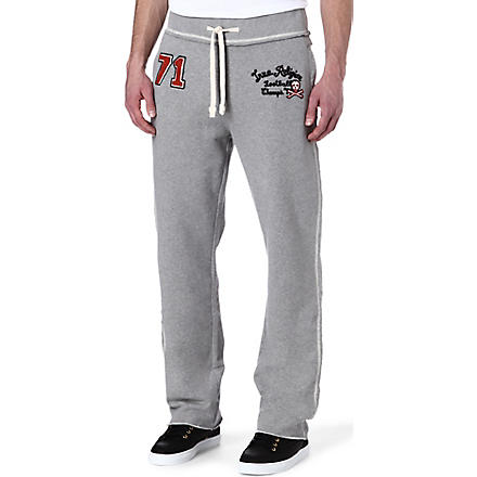 TRUE RELIGION Cotton jogging bottoms (Grey