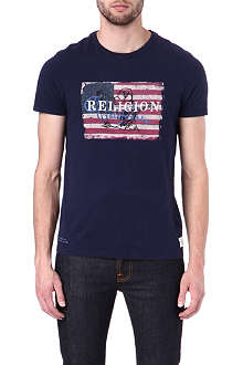 TRUE RELIGION Buddha flag t-shirt
