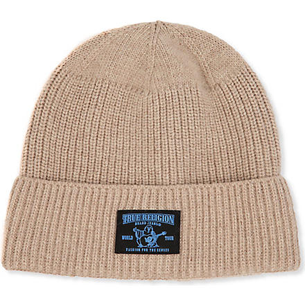 TRUE RELIGION Ribbed beanie (Khaki