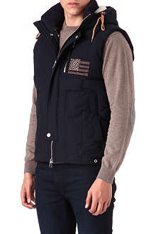 TRUE RELIGION Quilted logo gilet