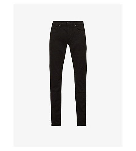 PAIGE DENIM Lennox skinny mid-rise jeans (Black+shadow