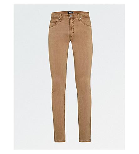 PAIGE经典修身版型紧身牛仔裤 (复古 + 山脉 + 沙)