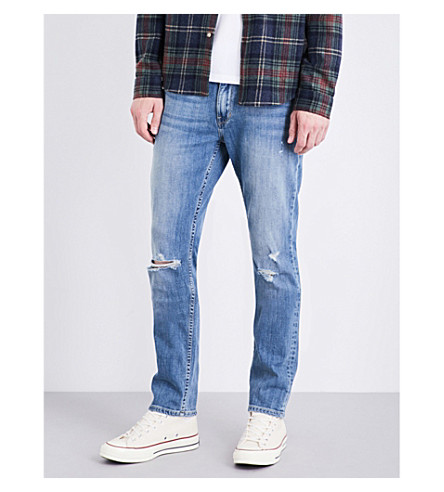 PAIGE DENIM Lennox skinny mid-rise jeans (Burke+destructed