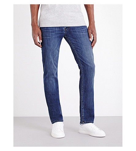 PAIGE DENIM Federal Nappa slim-fit straight jeans (Nappa