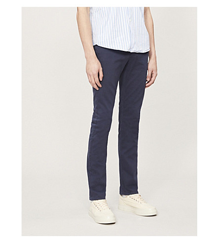 PAIGE Federal slim-fit tapered jeans (Navy+cadet