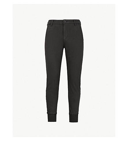 PAIGE Baxter stretch-jersey track pants (Black+gravel