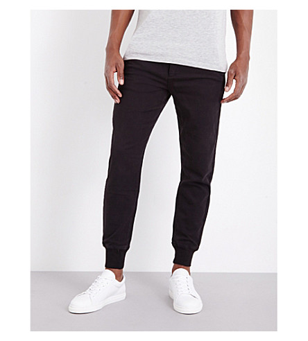 PAIGE DENIM Baxter stretch-jersey track pants (Black+gravel