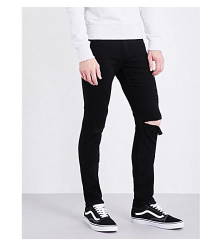 PAIGE DENIM Croft super-skinny mid-rise jeans (Black+cove