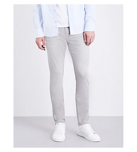PAIGE DENIM Croft super-skinny mid-rise jeans (Grey+bay