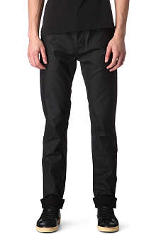 BLK DNM Regular-fit straight coated jeans