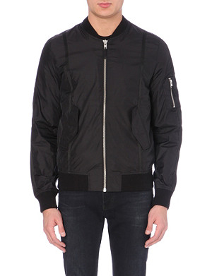 BLK DNM Nylon bomber jacket