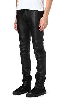 BLK DNM Skinny leather trousers
