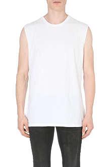 BLK DNM Abrasion-detail cotton-jersey vest