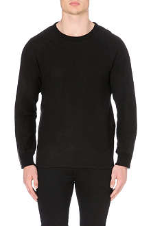 BLK DNM Crew neck zip detail sweater