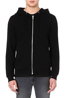 BLK DNM Front and back zip hoody