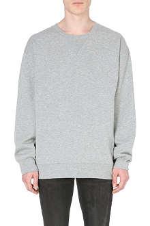 BLK DNM 11-print cotton-jersey sweatshirt
