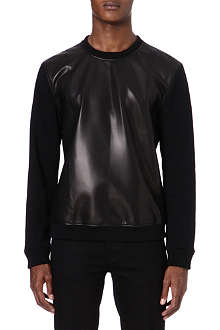 BLK DNM Leather front sweater