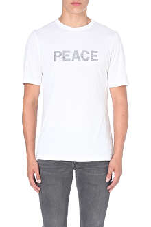BLK DNM Peace-print cotton-jersey t-shirt