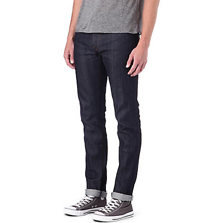 3X1 12oz stretch-selvedge slim-fit tapered jeans (Raw