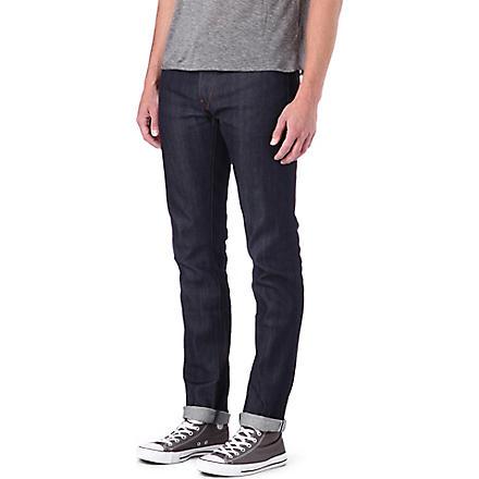 3X1 12oz stretch-selvedge slim-fit tapered jeans (Raw