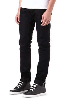 3X1 12.5oz black selvedge regular-fit straight jeans