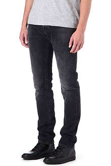 3X1 12.5oz black selvedge slim-fit tapered jeans