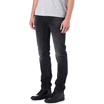 3X1 12.5oz black selvedge slim-fit tapered jeans (Reade