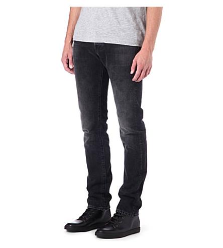 3X1 12.5oz black selvedge slim-fit tapered jeans (Reade