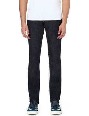 3X1 Slim-fit straight stretch-denim jeans
