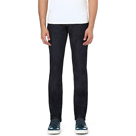 3X1 Slim-fit straight stretch-denim jeans (Indigo