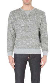EVISU Wave-print cotton-jersey sweatshirt