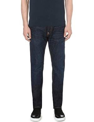 EVISU Slim-fit tapered mid-rise denim jeans