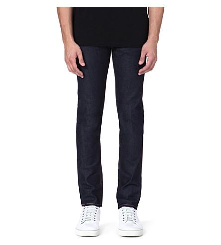 EVISU Slim-fit mid-rise skinny jeans (Indigo