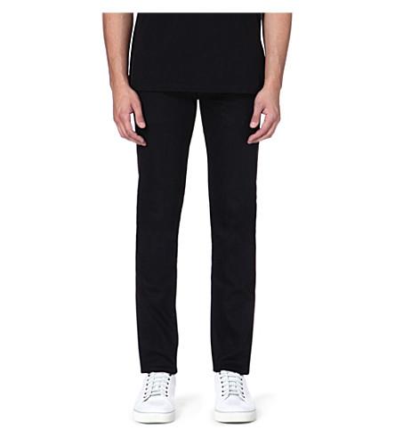 EVISU Slim-fit mid-rise skinny jeans (Black