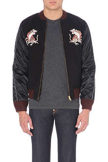 EVISU Souvenir reversible bomber jacket