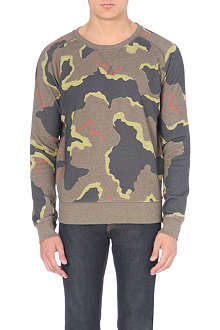 EVISU Camo cotton-jersey sweatshirt