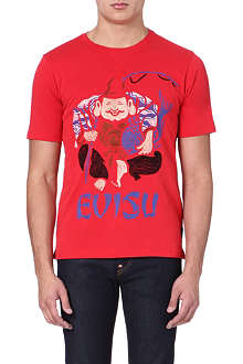 EVISU Embroidered crew-neck t-shirt