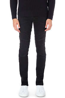 J BRAND Bearden Moto slim-fit tapered jeans