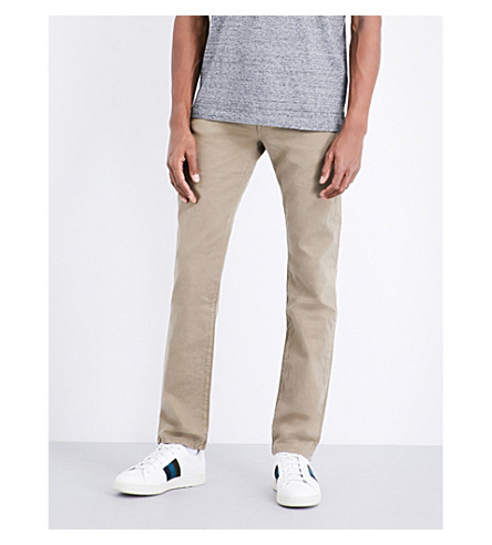 J BRAND Kane slim-fit straight jeans (Auburn