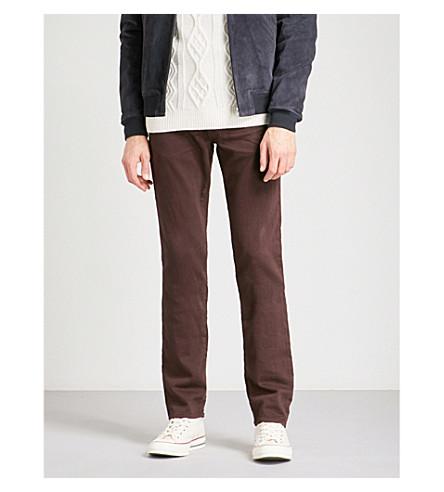 J BRAND 凯恩法国特里修身版型直穿牛仔裤 (Keckley + coquina