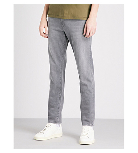 J BRAND Tyler Taper slim-fit tapered jeans (Luna+grey