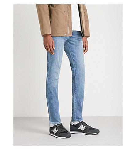 J BRAND 米克苗条合身的紧身牛仔裤 (层叠