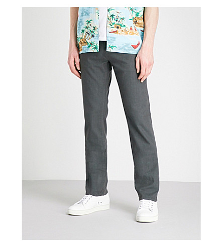 J BRAND Kane regular-fit straight jeans (Greyserite