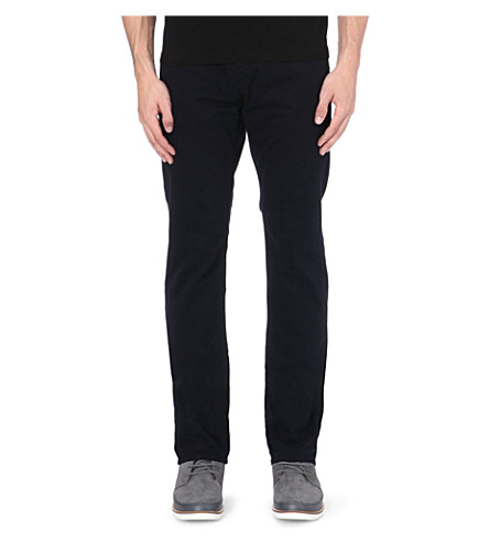 J BRAND Kane slim-fit straight leg twill trousers (Blue